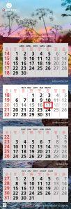 De wandkalender met 4 maanden overzicht inclusief datumaanwijzer