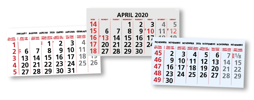 sets voor kalenders